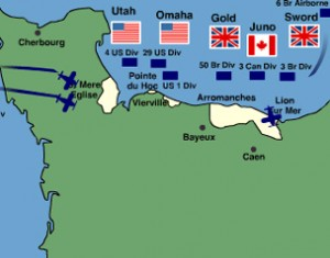 D day Map - World war 2