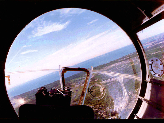 View from the cockpit of a B17 Gunner (public domain image)